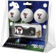 Texas Tech Red Raiders Golf Ball Gift Pack with Spring Action Divot Tool