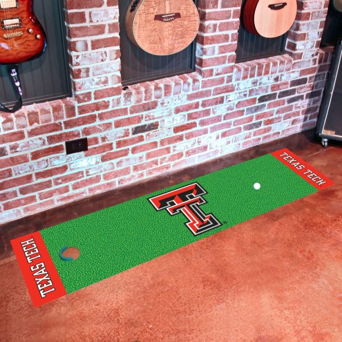 Texas Tech Red Raiders Golf Putting Green Mat