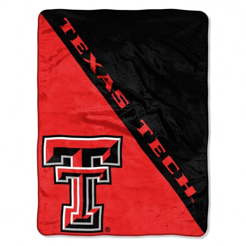 Texas Tech Red Raiders Halftone Raschel Blanket