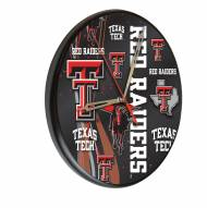 Texas Tech Red Raiders Digitally Printed Wood Clock