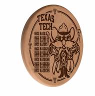 Texas Tech Red Raiders Laser Engraved Wood Sign