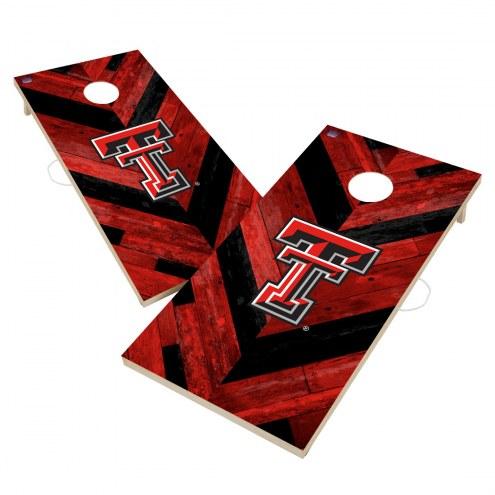 Texas Tech Red Raiders Herringbone Cornhole Game Set