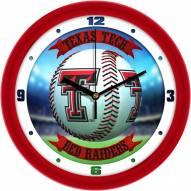 Texas Tech Red Raiders Home Run Wall Clock