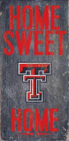 Texas Tech Red Raiders Home Sweet Home Wood Sign