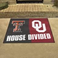 Texas Tech Red Raiders/Oklahoma Sooners House Divided Mat