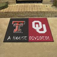 Texas Tech Red Raiders/Oklahoma Sooners House Divided Mat