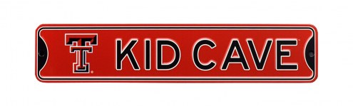 Texas Tech Red Raiders Kid Cave Street Sign