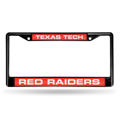 Texas Tech Red Raiders Laser Black License Plate Frame