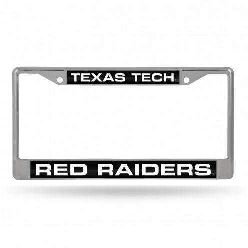 Texas Tech Red Raiders Laser Chrome License Plate Frame