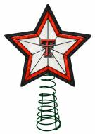 Texas Tech Red Raiders Light Up Art Glass Tree Topper