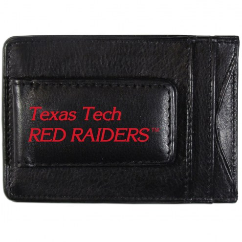 Texas Tech Red Raiders Logo Leather Cash and Cardholder