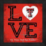 Texas Tech Red Raiders Love My Team Color Wall Decor