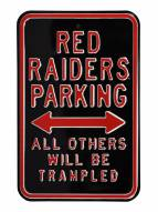 Texas Tech Red Raiders NCAA Embossed Parking Sign