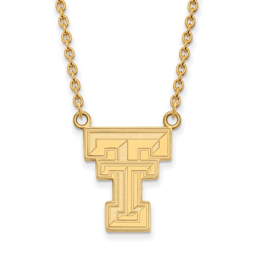 Texas Tech Red Raiders NCAA Sterling Silver Gold Plated Large Pendant Necklace