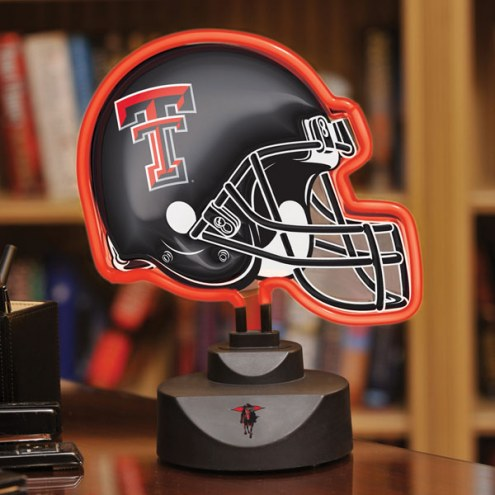 Texas Tech Red Raiders Neon Helmet Desk Lamp