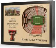 Texas Tech Red Raiders 25-Layer StadiumViews 3D Wall Art