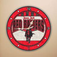 Texas Tech Red Raiders NCAA Stained Glass Wall Clock