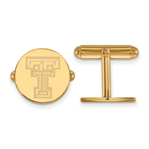 Texas Tech Red Raiders NCAA Sterling Silver Gold Plated Cuff Links