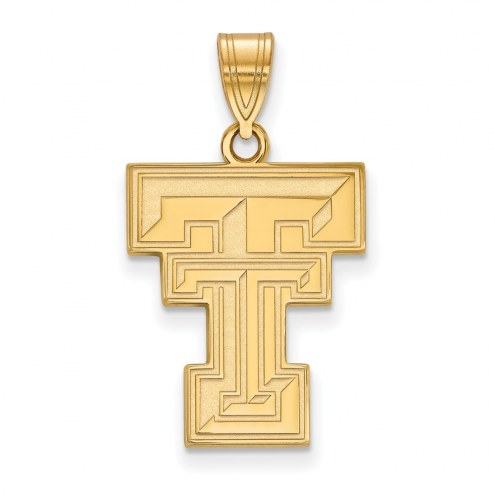 Texas Tech Red Raiders NCAA Sterling Silver Gold Plated Large Pendant