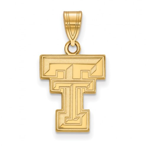 Texas Tech Red Raiders NCAA Sterling Silver Gold Plated Medium Pendant