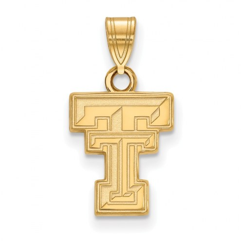 Texas Tech Red Raiders NCAA Sterling Silver Gold Plated Small Pendant