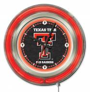 Texas Tech Red Raiders Neon Clock