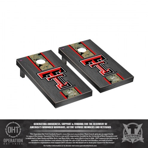 Texas Tech Red Raiders Operation Hat Trick Onyx Stained Cornhole Game Set