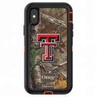 Texas Tech Red Raiders OtterBox iPhone X Defender Realtree Camo Case