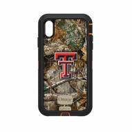 Texas Tech Red Raiders OtterBox iPhone XS Max Defender Realtree Camo Case