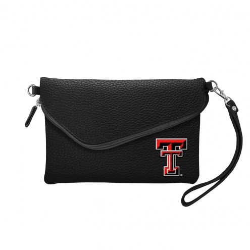 Texas Tech Red Raiders Pebble Fold Over Purse