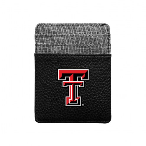 Texas Tech Red Raiders Pebble Front Pocket Wallet