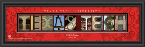 Texas Tech Red Raiders Personalized Campus Letter Art