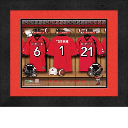Texas Tech Red Raiders Personalized Locker Room 13 x 16 Framed Photograph