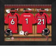 Texas Tech Red Raiders Personalized Locker Room 11 x 14 Framed Photograph