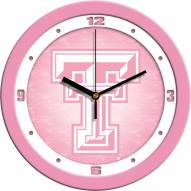 Texas Tech Red Raiders Pink Wall Clock