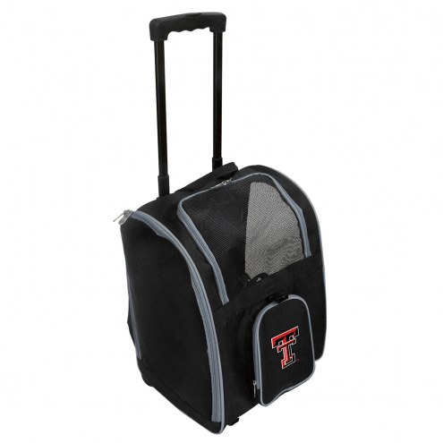Texas Tech Red Raiders Premium Pet Carrier with Wheels