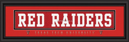 """Texas Tech Red Raiders """"Red Raiders"""" Stitched Jersey Framed Print"""