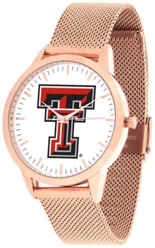 Texas Tech Red Raiders Rose Mesh Statement Watch