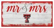 Texas Tech Red Raiders Script Mr. & Mrs. Sign