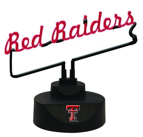 Texas Tech Red Raiders Script Neon Desk Lamp