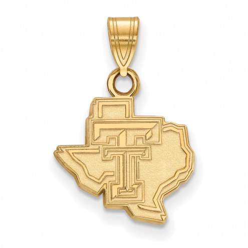 Texas Tech Red Raiders Sterling Silver Gold Plated Small Pendant