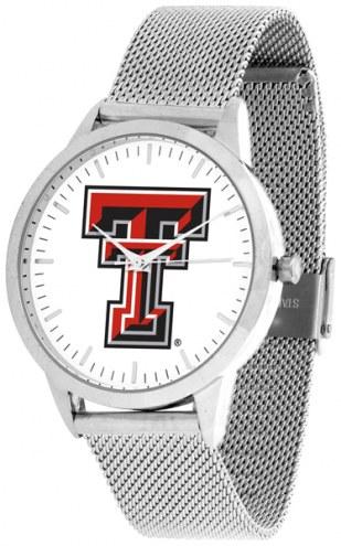 Texas Tech Red Raiders Silver Mesh Statement Watch