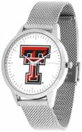 Texas Tech Red Raiders Silver Mesh Statement Watch