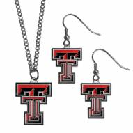 Texas Tech Red Raiders Dangle Earrings & Chain Necklace Set