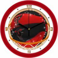 Texas Tech Red Raiders Slam Dunk Wall Clock