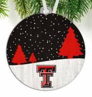 Texas Tech Red Raiders Snow Scene Ornament