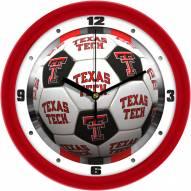 Texas Tech Red Raiders Soccer Wall Clock