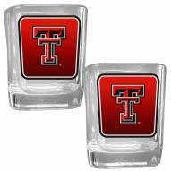 Texas Tech Red Raiders Square Glass Shot Glass Set