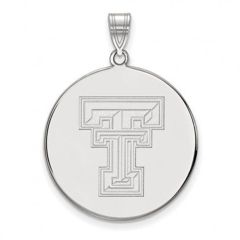 Texas Tech Red Raiders Sterling Silver Extra Large Disc Pendant
