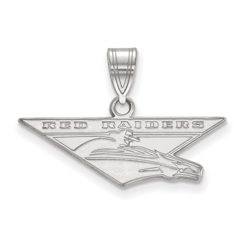Texas Tech Red Raiders Sterling Silver Large Pendant
